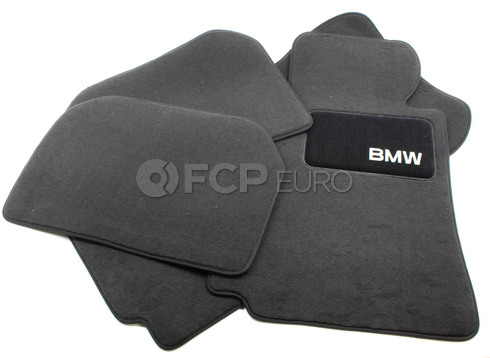 BMW Carpeted Floor Mats set of 4 Anthracite (E38) - Genuine BMW 82111469539