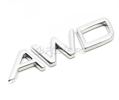 Volvo AWD Emblem (S60 V70 S80 XC90)- Genuine Volvo 9157130