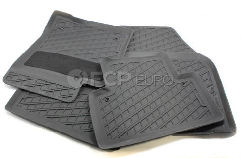 Volvo Rubber Floor Mat Set Off Black (S40 V50) - Genuine Volvo 39807167