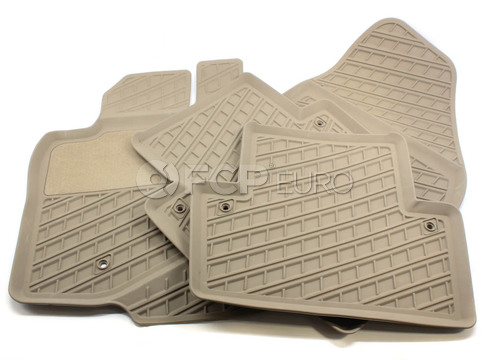 Volvo Rubber Floor Mat Set Beige (V70 XC70) - Genuine Volvo 39891793