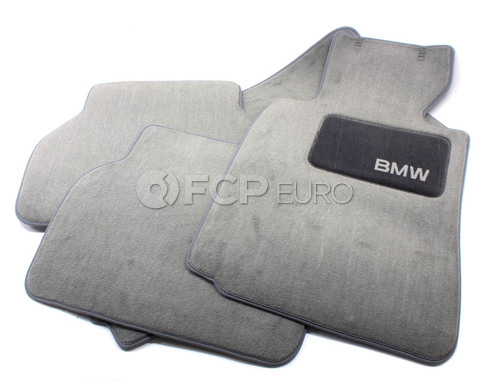 BMW Carpeted Floor Mats set of 4 Grey (E39) - Genuine BMW 82111469761