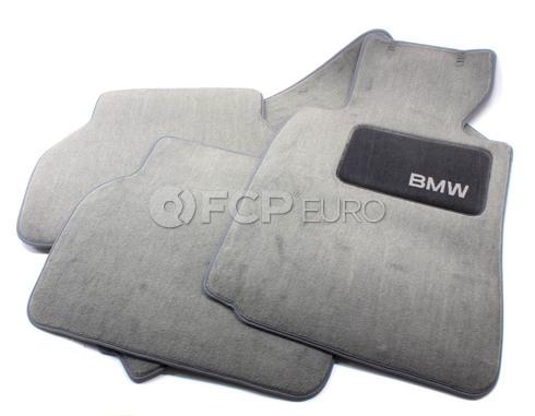 BMW Carpeted Floor Mats set of 4 Grey (E39) - Genuine BMW 82111469761