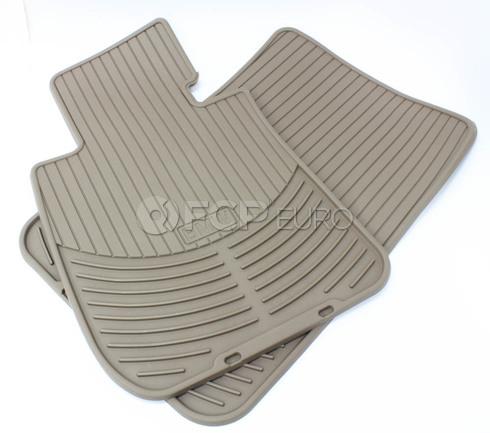 BMW All Weather Rubber Floor Mat Set Front (Beige) - Genuine BMW 82112318677