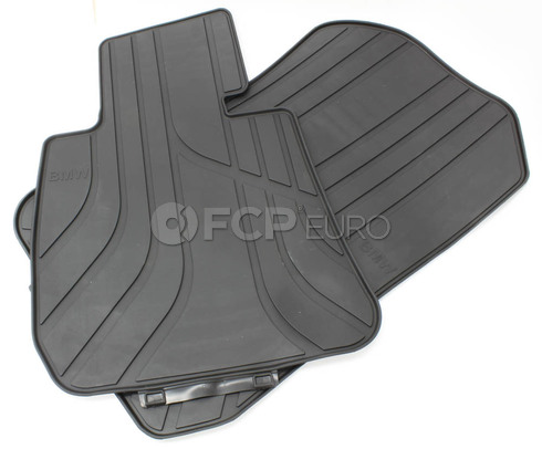 BMW Anthracite Black Rubber Floor Mat Set - Genuine BMW 51472311024