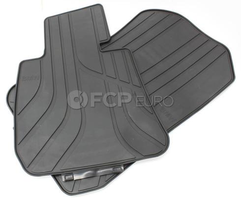BMW Anthracite Black Rubber Floor Mat Set - Genuine BMW 51472311024