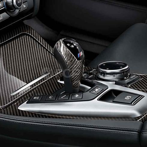 BMW M Performance Carbon Fiber DCT Shift Knob Trim - Genuine BMW 61312343709