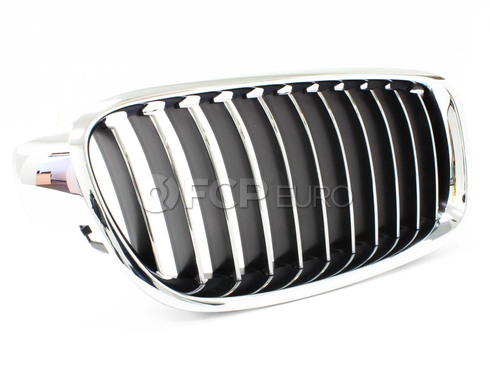 BMW Luxury Line Kidney Grille Right - Genuine BMW 51137263482