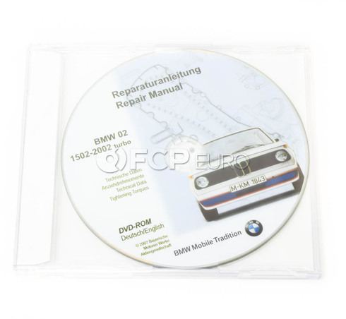 BMW Cd Repair Manual 1502-2002 Turbo (02; De-En) - Genuine BMW 01560036109