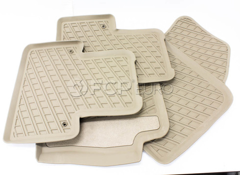 Volvo Rubber Floor Mat Set Brown (XC90) - Genuine Volvo 31307314