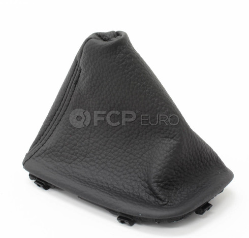 BMW Black Dakota Leather Auto Trans Shift Boot - Genuine BMW 25167592028