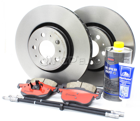 "Volvo Brake Kit 12.6"" Front 8 Piece  (S80) - Brembo KIT-P2S80320FTBK4P8"