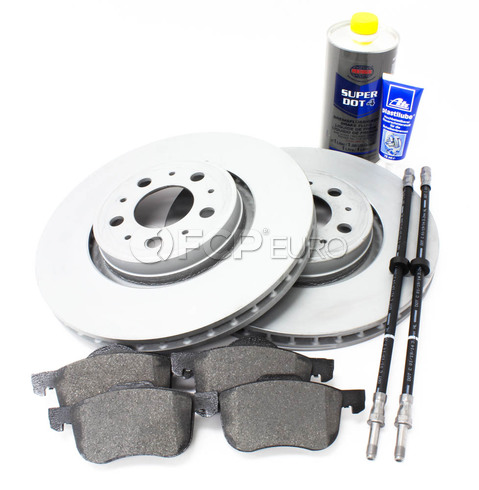 "Volvo Brake Kit 12.6"" Front 8 Piece  (S80) - Zimmerman KIT-P2S80320FTBK2P8"