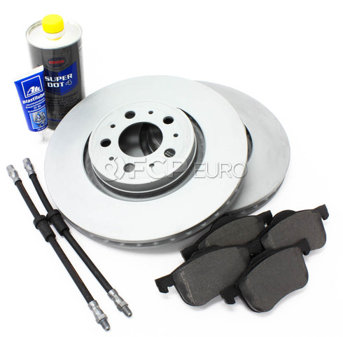 "Volvo Brake Kit 12.6"" Front 8 Piece  (S60 V70) - Zimmerman KIT-P2320FTBK2P8"