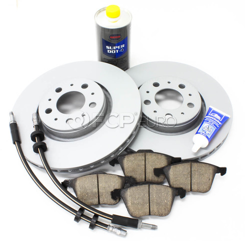 "Volvo Brake Kit Front 12.5"" 8 Piece (XC90) - Meyle KIT-P2316FTBK3P8"