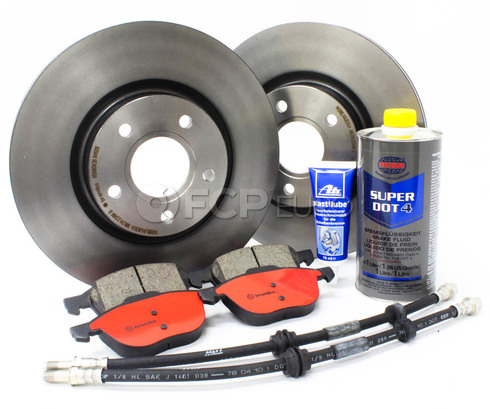 "Volvo Brake Kit 11.81"" Front 8 Piece (C30 S40 V50 C70) - Brembo KIT-P1300FTBK2P8"