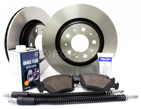"Volvo Brake Kit 11.89"" Front 7 Piece (850 C70 S70 V70) - Genuine Volvo KIT-P80302FTBKP7"