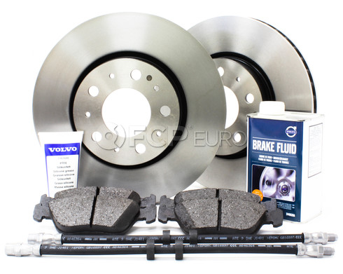 "Volvo Brake Kit 11"" Front 7 Piece (850 C70 S70 V70) - Genuine Volvo KIT-P80280FTBKP7"