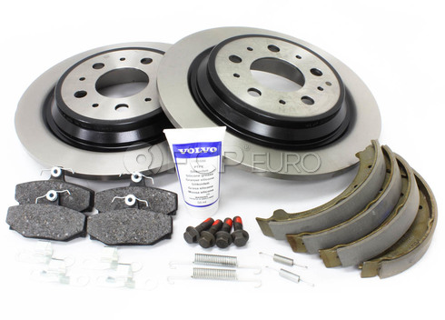 Volvo Brake Kit Rear (S70 V70) - Genuine Volvo KIT-P80AWD2REARBKKTP7