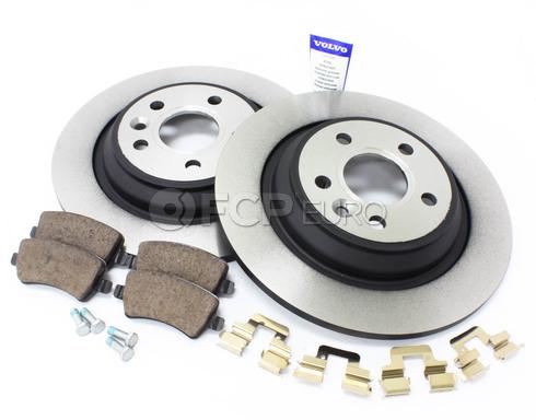 Volvo Brake Kit - Genuine Volvo KIT-P3XCV70S80RRSOLKTP5