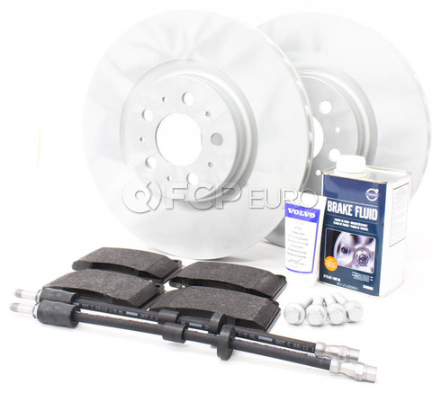 "Volvo Brake Kit Front 13"" 8 Piece (S60R V70R) - Genuine Volvo KIT-P2330FTBKP8"