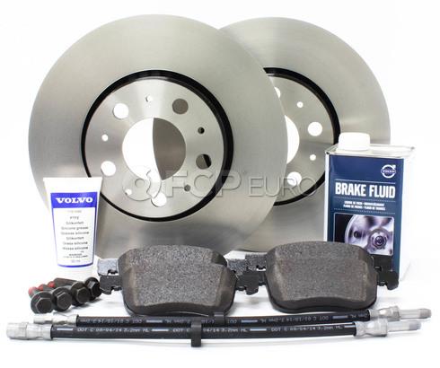 """Volvo Brake Kit 11.25"""" Front 8 Piece (S60 V70 XC70 S80) - Genuine Volvo KIT-P2286FTBKP8"""