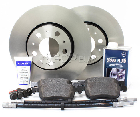 "Volvo Brake Kit 11.25"" Front 8 Piece (S60 V70 XC70 S80) - Genuine Volvo KIT-P2286FTBKP8"