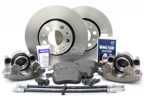 "Volvo Brake Kit 11.25"" Front 10 Piece (S60 V70 XC70 S80) - Genuine Volvo KIT-P2286FTBKP10"