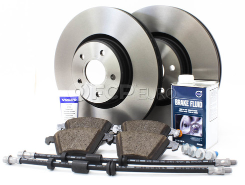 "Volvo Brake Kit 12.60"" Front 8 Piece (S40 V50 C70) - Genuine Volvo KIT-P1320FTBKP8"