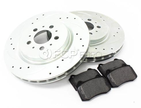 Volvo Brake Kit Rear 5 Piece (S60R V70R) - Elevate / Mintex  KIT-P2RREARBK4P5