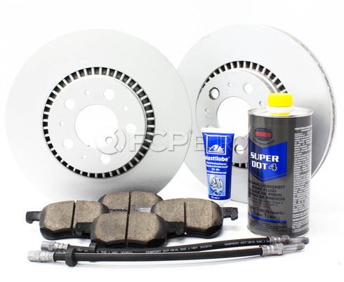 "Volvo Brake Kit 12"" Front 8 Piece  (S60 V70 XC70 S80) - Meyle KIT-P2305FTBK3P8"