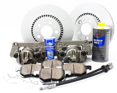 "Volvo Brake Kit 12"" Front 10 Piece  (S60 V70 XC70 S80) - Meyle KIT-P2305FTBK3P10"