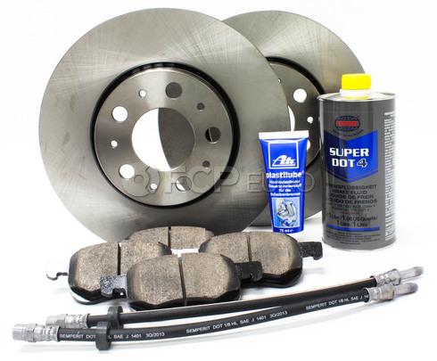 "Volvo Brake Kit 11.25"" Front  8 Piece (S60 V70 XC70 S80) - Meyle KIT-P2286FTBK3P8"