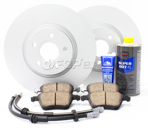 "Volvo Brake Kit 12.6"" Front 8 Piece (S40 V50 C70) - Meyle KIT-P1320FTBK3P8"