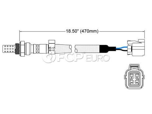 Land Rover Oxygen Sensor (Discovery Freelander Range Rover) - Walker 250-24496