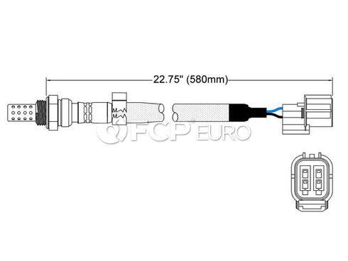 Land Rover Oxygen Sensor (Discovery Freelander Range Rover) - Walker 250-24498