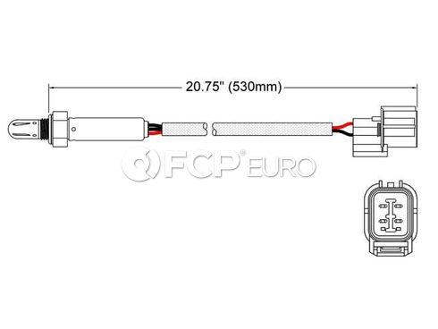 Land Rover Oxygen Sensor (Range Rover Discovery Defender 110 Defender 90) - Walker 250-24512