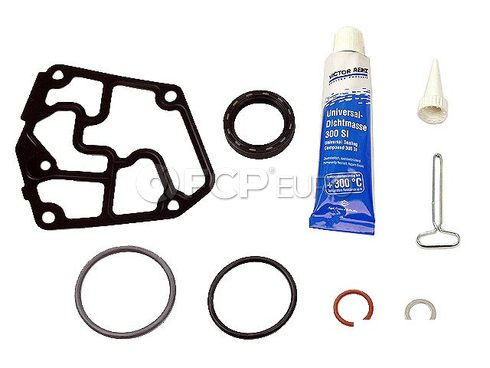 VW Engine Crankcase Cover Gasket Set (Beetle Golf Jetta) - Genuine VW Audi 038198011