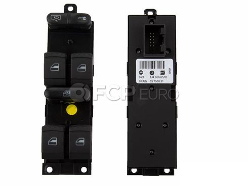 VW Door Window Switch Panel - Genuine VW Audi 1J4959857D