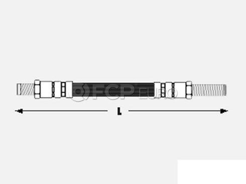 Volvo Disc Brake Hydraulic Hose Rear (240 242 245 264) - Genuine Volvo 1229100OE