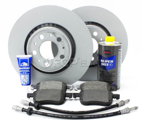 """Volvo Brake Kit 12.6"""" Front 8 Piece  (V70XC XC70) - Zimmerman KIT-P2XC70320FTBK2P8"""