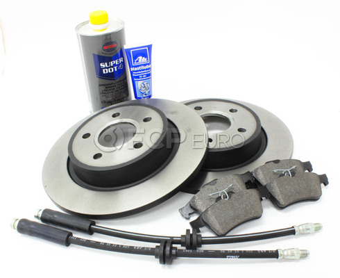 Volvo Brake Kit Rear 8 Piece (C30 S40 V50 C70) - Zimmerman / Textar KIT-P1REARBKKT2P8