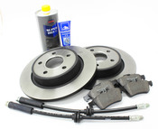 Volvo Brake Kit 8 Piece - Zimmermann / Textar KIT-P1BKKT2P8