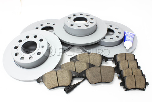 Audi VW Brake Kit (Golf Jetta Rabbit) - Zimmermann/Akebono MK5BKZIMM