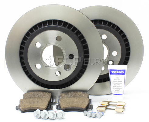 Volvo Brake Kit Rear (S60 V60 V70 XC70 S80) - Genuine Volvo KIT-P3REARVENTEDKTP5