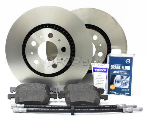 """Volvo Brake Kit 12"""" Front 8 Piece  (S60 V70 XC70 S80) - Genuine Volvo KIT-P2305FTBKP8"""