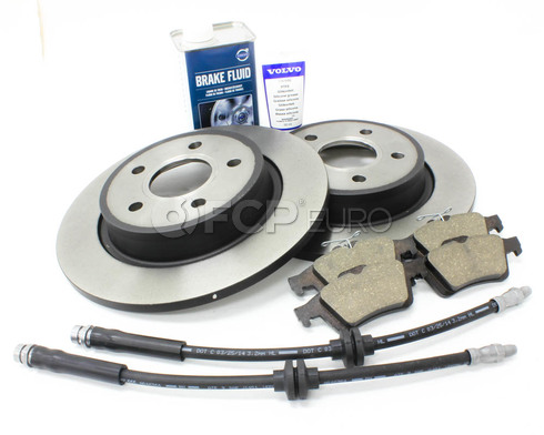 Volvo Brake Kit Rear 8 Piece (C30 S40 V50 C70) - Genuine Volvo KIT-P1REARBKKTP8