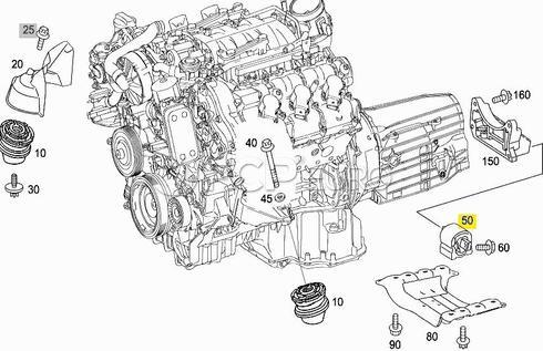 Mercedes Auto Trans Mount (CL550 S400 S550) - Genuine Mercedes 2212400918