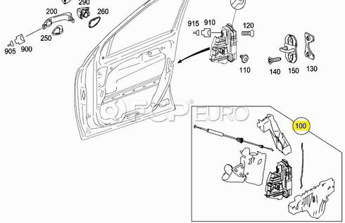 Mercedes Door Lock Actuator Right Rear (ML350) - Genuine Mercedes 1647201235