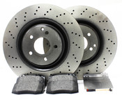 Mercedes Brake Kit Front (S600 S55 AMG)- Brembo/Pagid W220FBK3