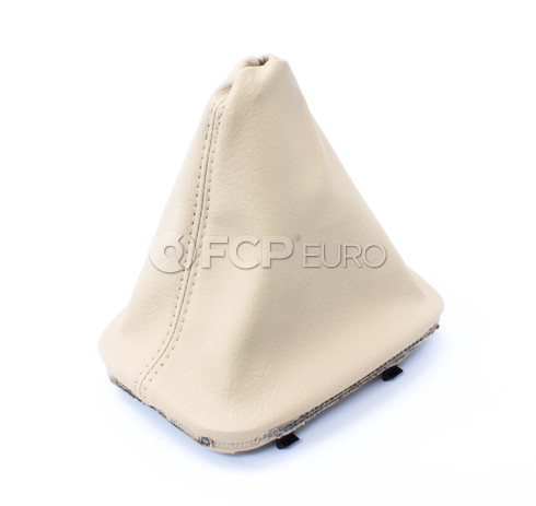 BMW Imitation Leather Manual Trans Shift Boot (Beige) - Genuine BMW 25111434352